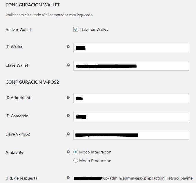 configuracion wallet woocommerce payme