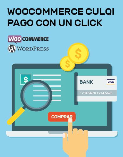 woocommerce culqi pago con un click