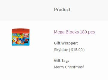 cart page gift wrapper woocommerce